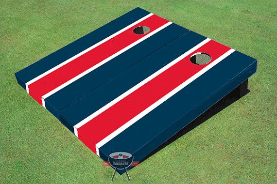 Painted Corn Hole Gray and Navy Solid Cornhole Boards