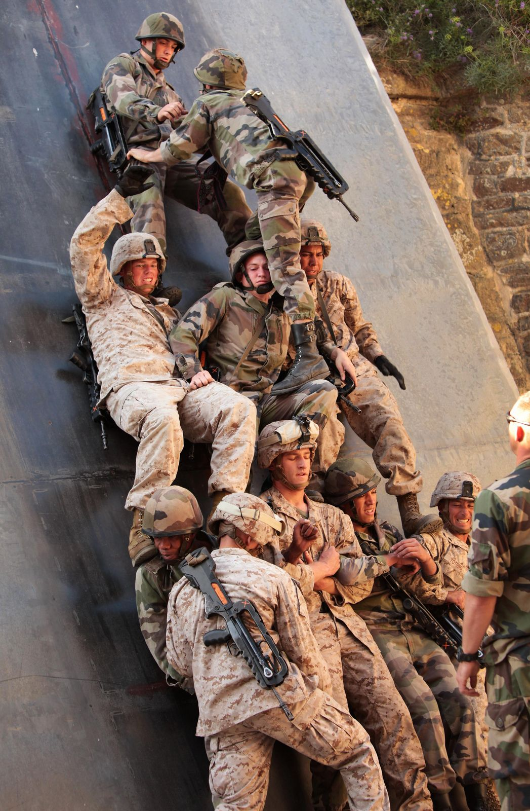 French & US Marine training....