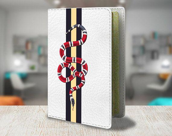 9266cbaff83 Gucci Passport holder Brand cover Passport cover Leather Brand Passport  holder Luxury Gucci Logo Lea