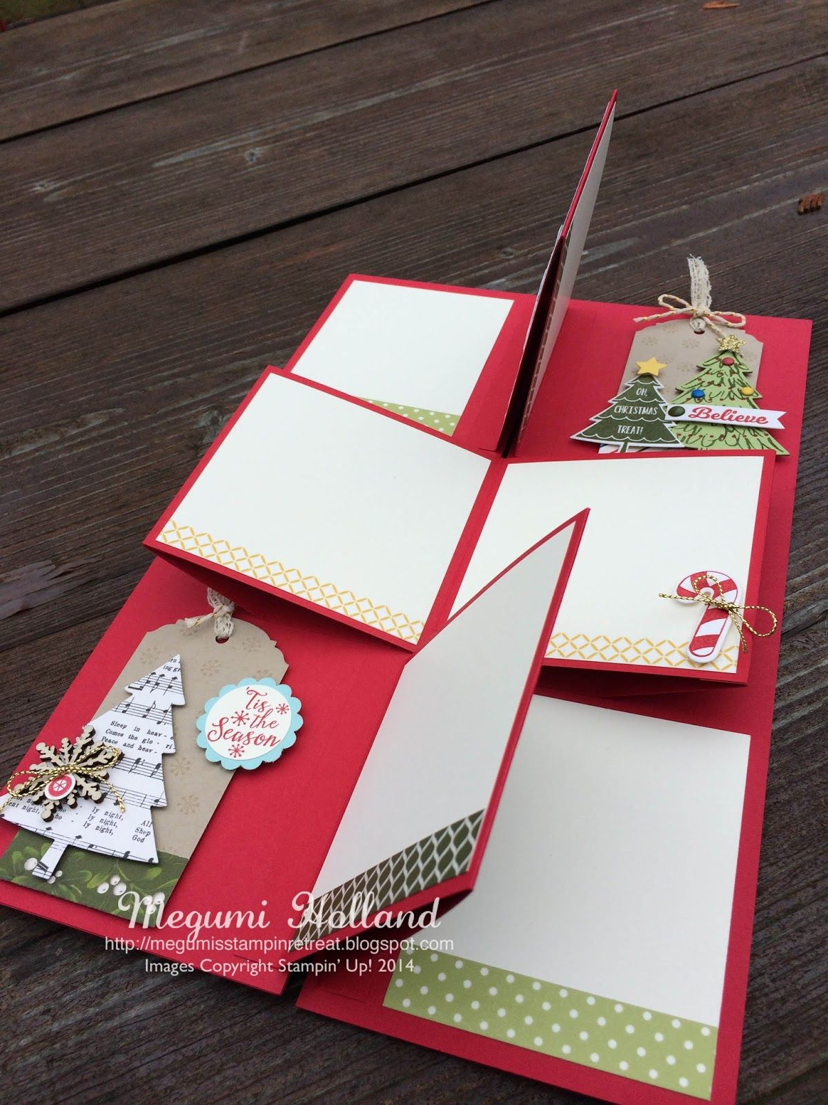 Megumi's Stampin Retreat: Christmas Shutter Scrapbook