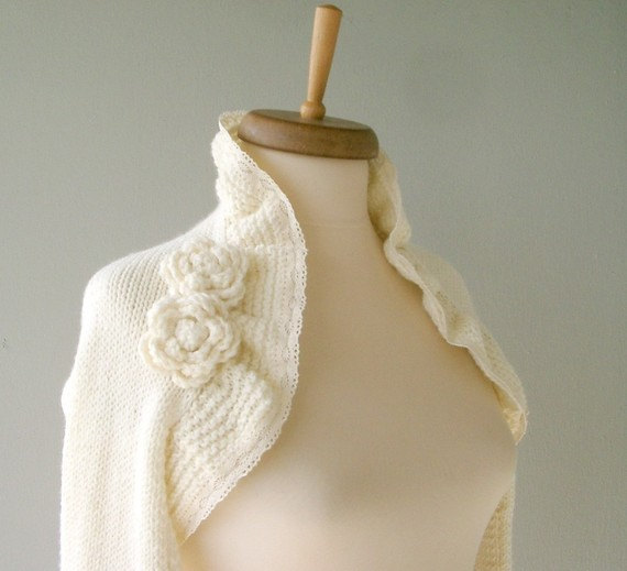 Cashmere cardigan for wedding Ivory bridal by DokumaAccessories ...