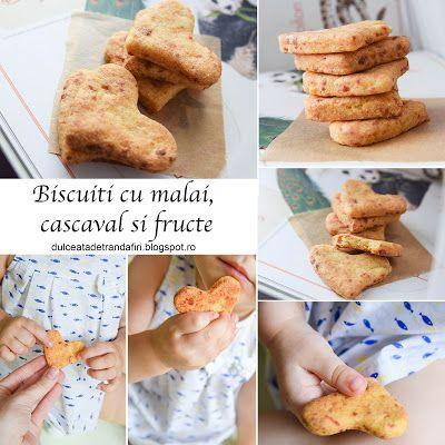 Dulceata de trandafiri: Biscuiti cu malai, cascaval si fructe