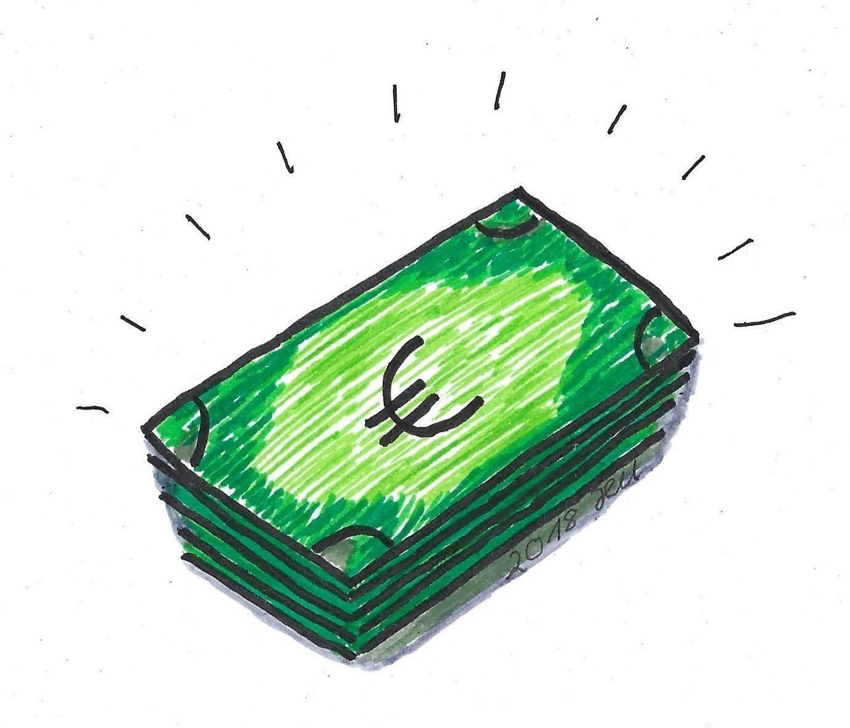 Symbol Geldscheine Symbole Geldscheine Scheine Und Geld