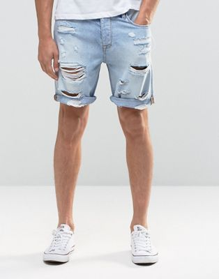 Men's fashion · ASOS Denim Shorts In Slim Fit With Extreme Rips