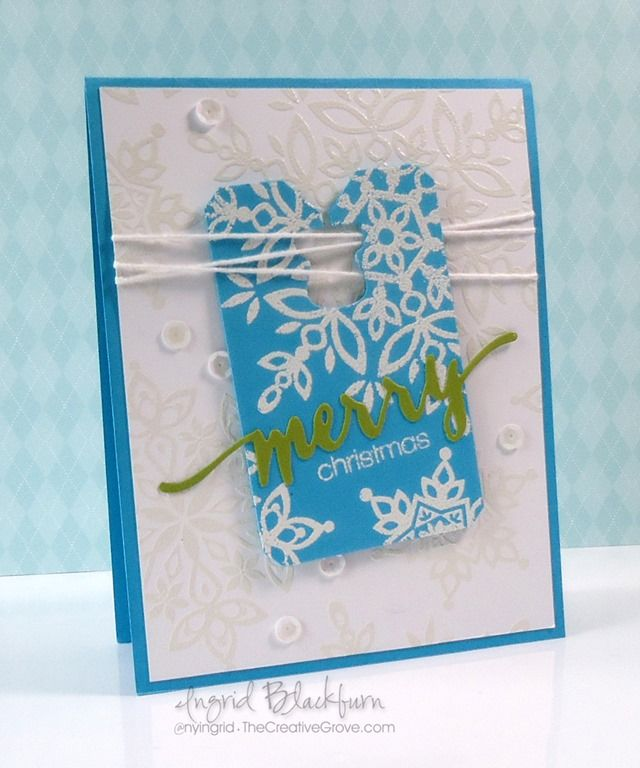 Tutorial on CAS Festive Flurry Snowflake tag card