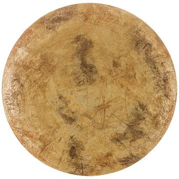 Concave Burnished Ivory Metal Disc Wall Art | things i like ...