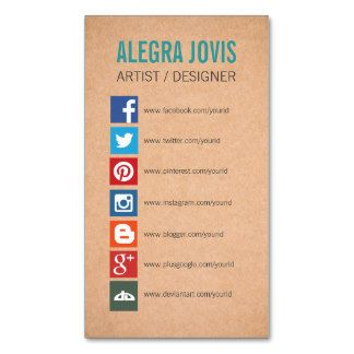 Social media icons symbols business card business cards pinterest social media icons business cards business card printing reheart Image collections