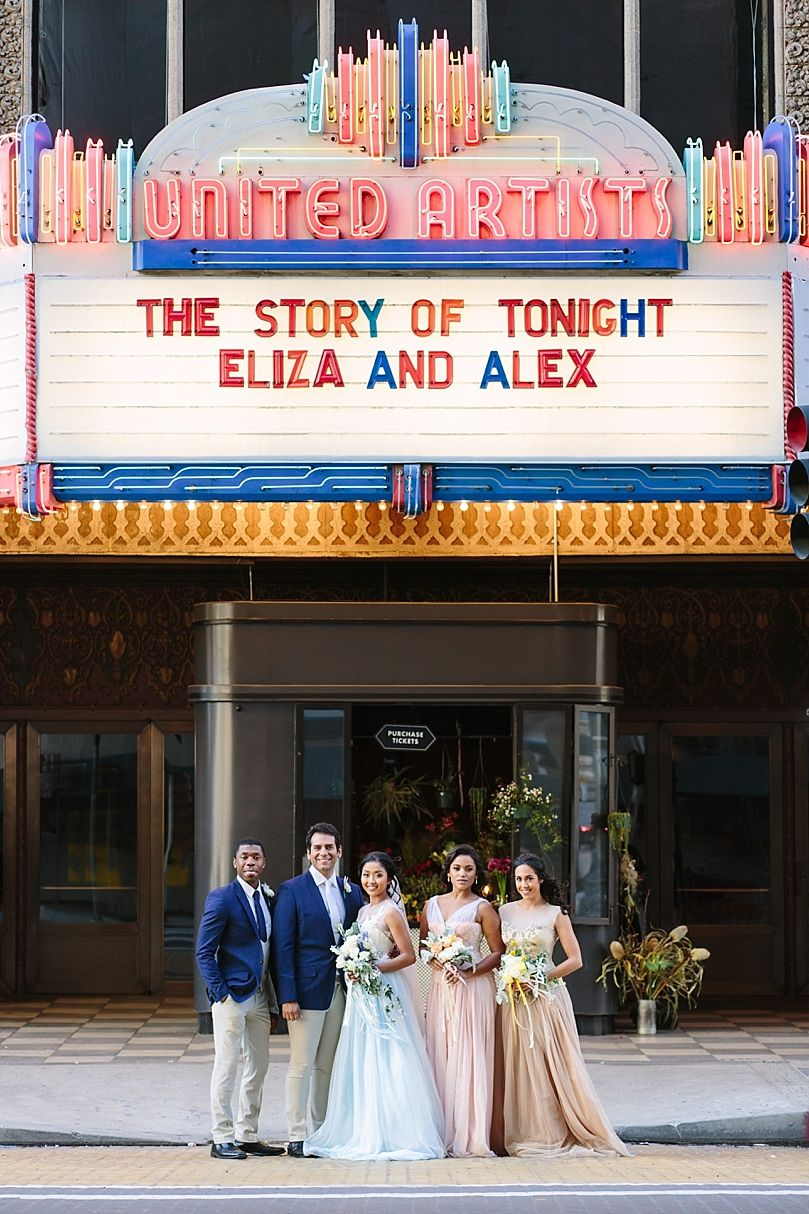 030910e635 Hamilton Inspired Wedding in Los Angeles at The Theatre at Ace Hotel Ace  Hotel