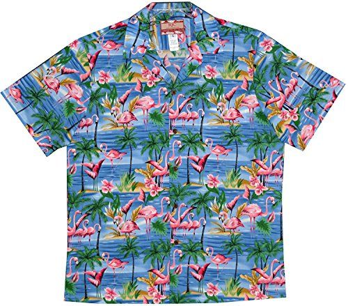 66f01b37 RJC Mens Pink Flamingo Orchid Shirt in BLUE S RJC http://www.