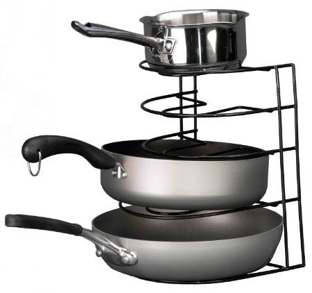 Grayline 40207, Frying Pan Sorter, Black