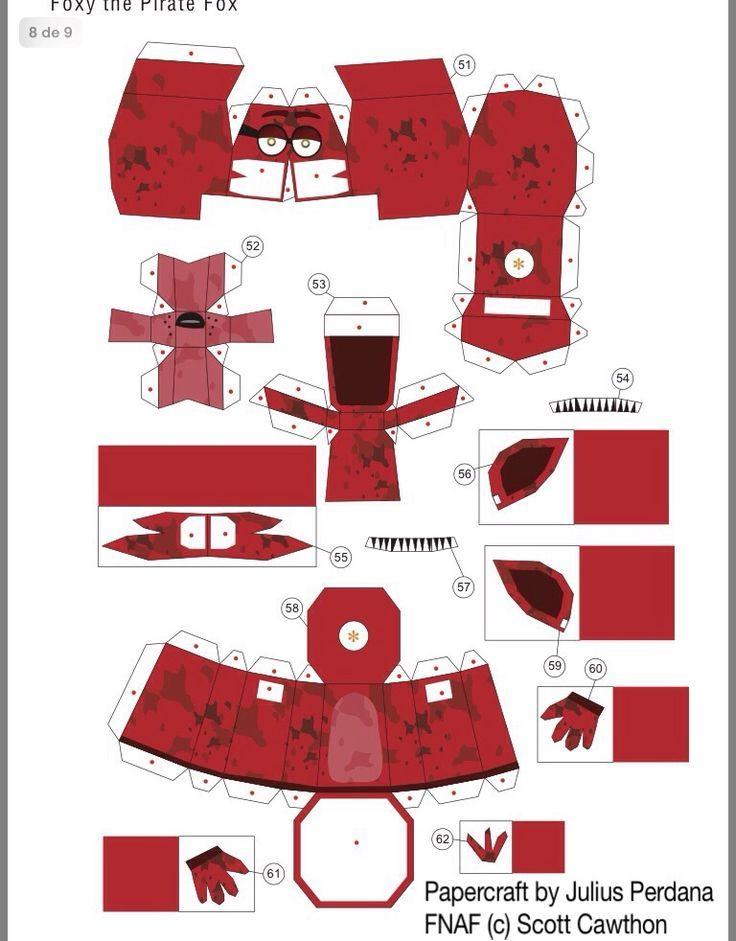 Making a Paper FOXY FNAF | Origami a imprimer, Papercraft ...