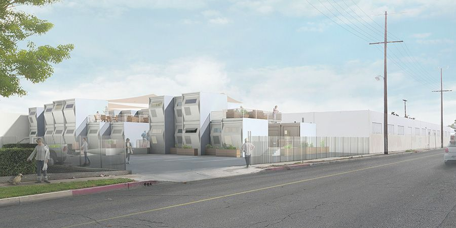 Madworkshop Students Develop Modular Homeless Shelters For L A Architect Jobs Los Angeles Architecture Temporary Architecture