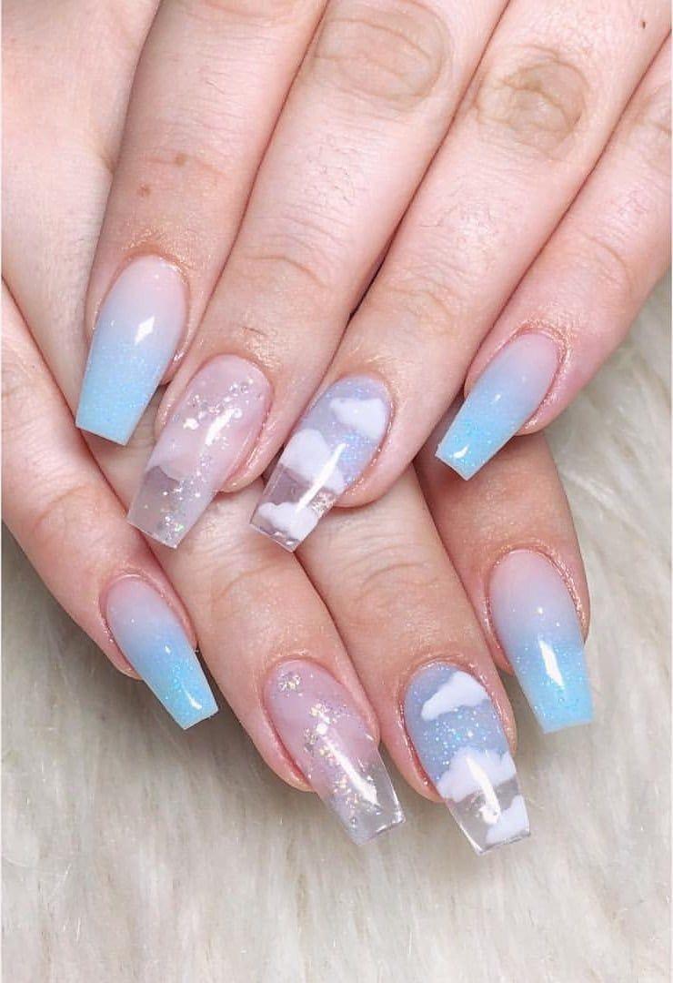 acrylic nails #acrylic acrylic nail art, how to remove acrylic nails, light blu…