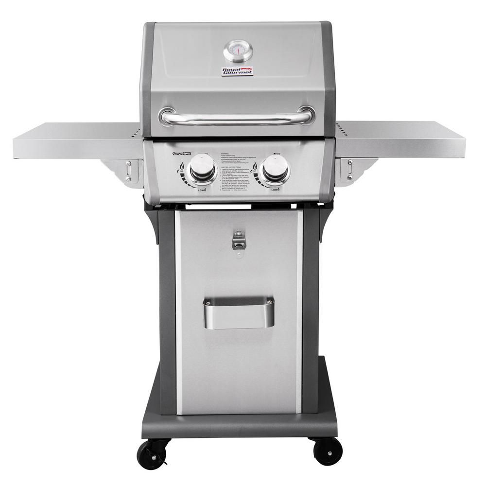 Royal Gourmet Deluxe 2 Burner Patio Propane Gas Grill In Black With Folding Side Tables Propane Gas Grill Best Gas Grills Grilling