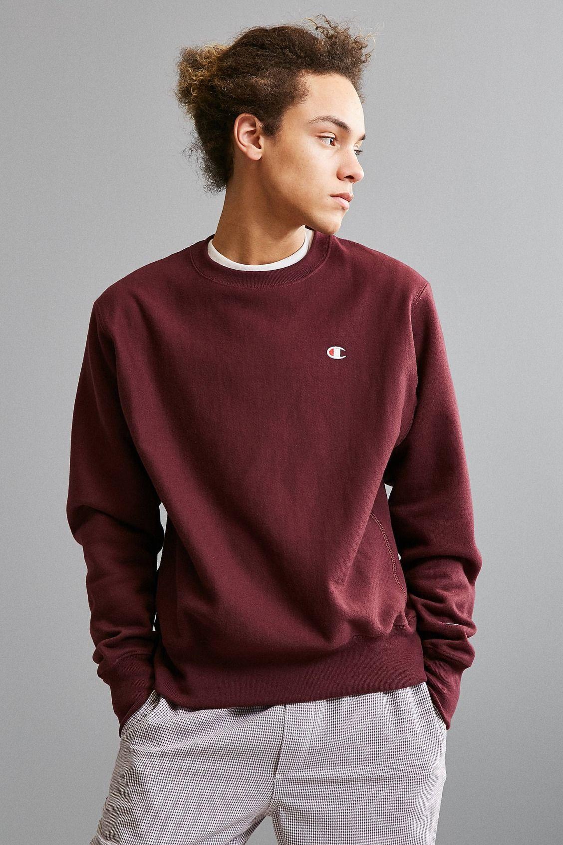 66715c5105f2 Slide View  1  Champion Reverse Weave Fleece Crew Neck Sweatshirt ...