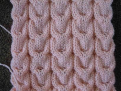 Knitting Stitch Pattern: Horseshoe Cables | breien | Pinterest ...