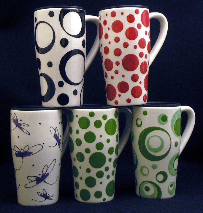painted pottery mug ideas artsy shark presents ceramic