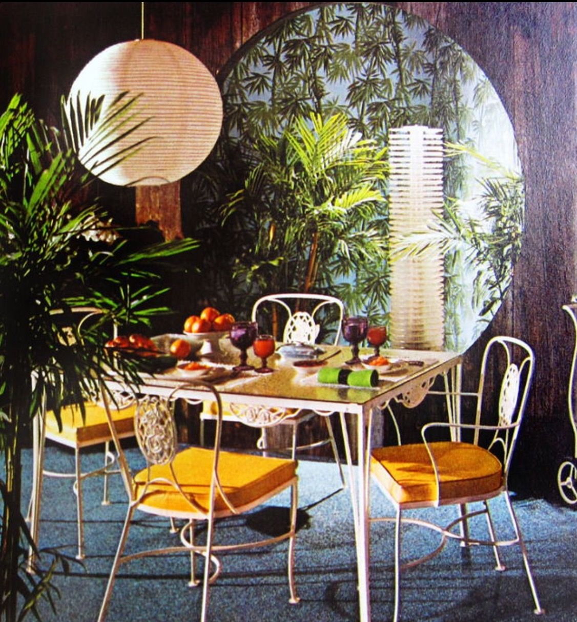 Pin By Sina Marinkovic On Mid Century Dining Areas Tropical Home