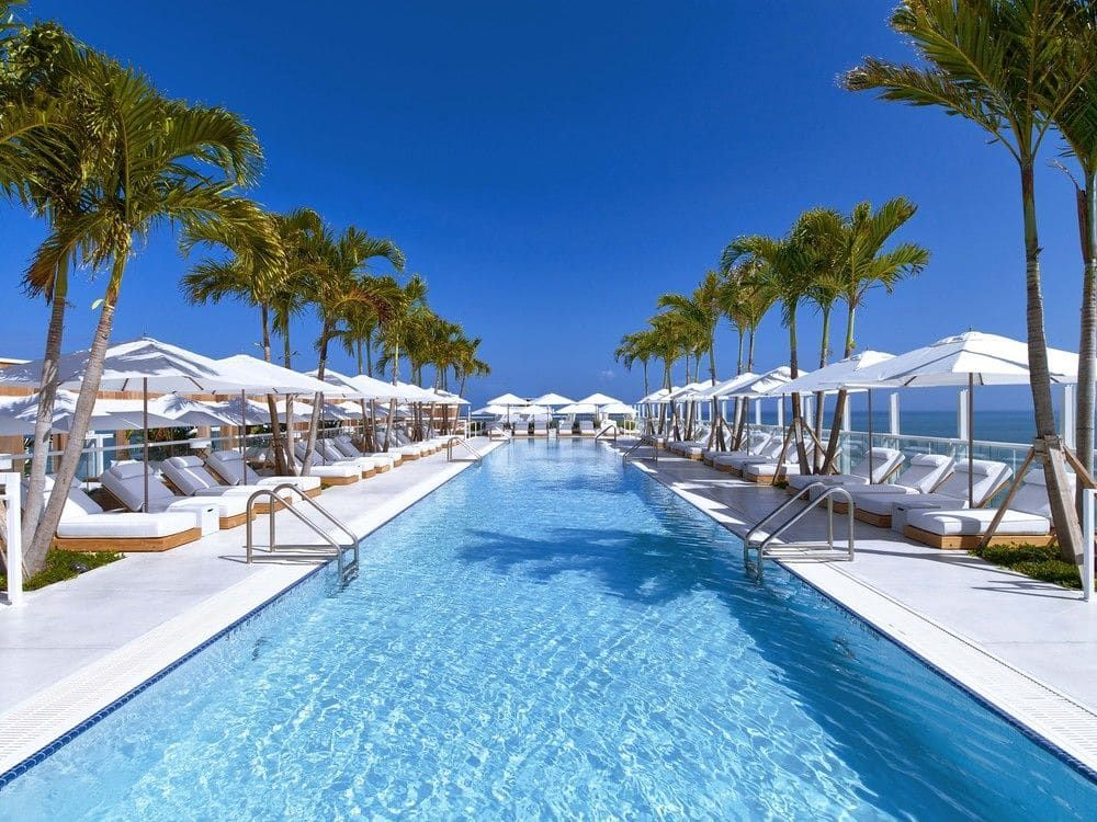 Yeah Another Rather Amazing Florida Pool This Time Provided By 1 Hotel South Beach In Miami Beach F South Beach Hotels Miami Hotels South Beach Miami Hotels