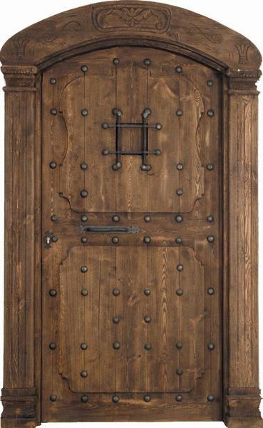 Castellana medio punto embocadura castellanos puntos y for Puertas principales de madera rusticas