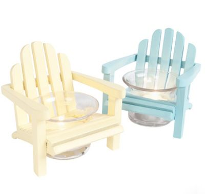 Wooden Adirondack Chair Candle Holder :shelby | Wooden ...