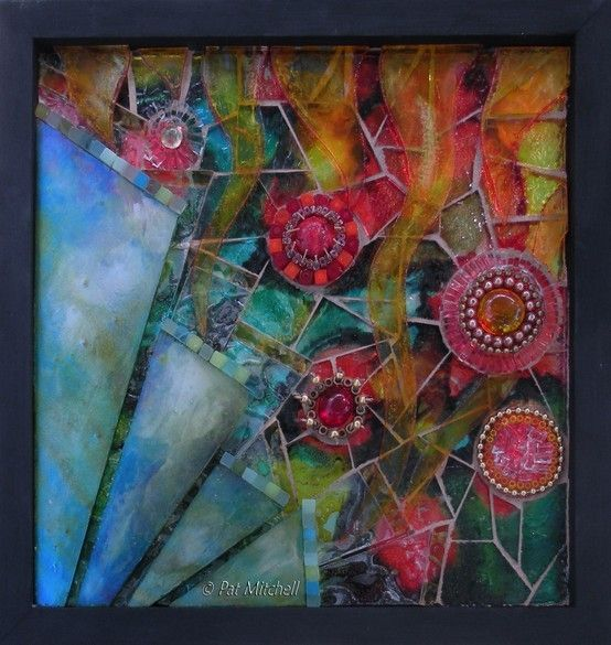 """""""Five Seeds"""" by Mosaic Artist Pat Mitchell    LOVE her work!!! by gena"""
