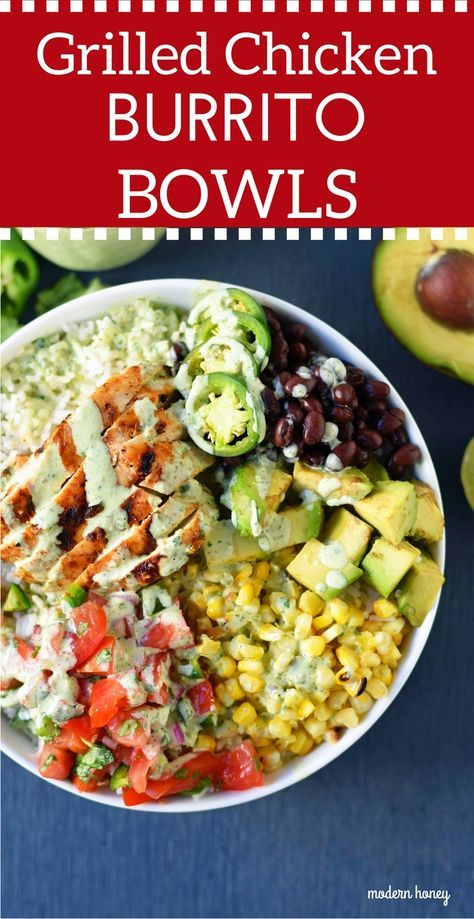 Photo of Grilled Chicken Burrito Bowls