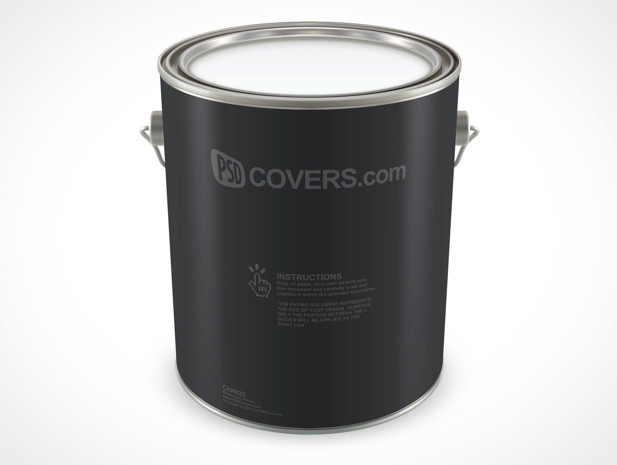 Can023 Market Your Psd Mockups For Paint Can Paint Cans Mockup Psd Mockup