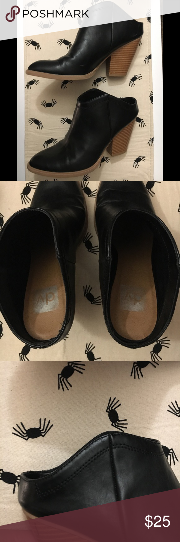 5956f14e8cbf DV for Target Nya Mule Booties black faux leather Super cute mule booties  perfect for fall! Dolce Vita for Target 🎯 size 8.5 DV by Dolce Vita Shoes  Ankle ...