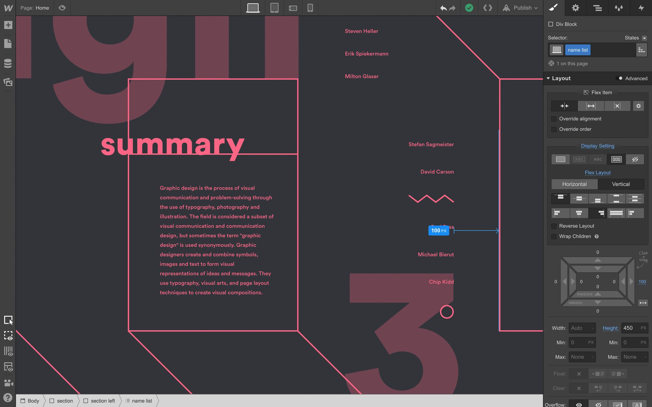 Webflow Gives You A Blank Canvas To Master Layout And Positioning In Web Design Software Prototyping Tools Website Design Software