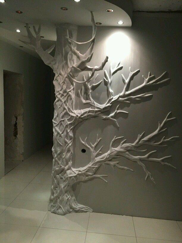 Odnoklassniki inspiring relief pinterest drywall for Plaster wall art
