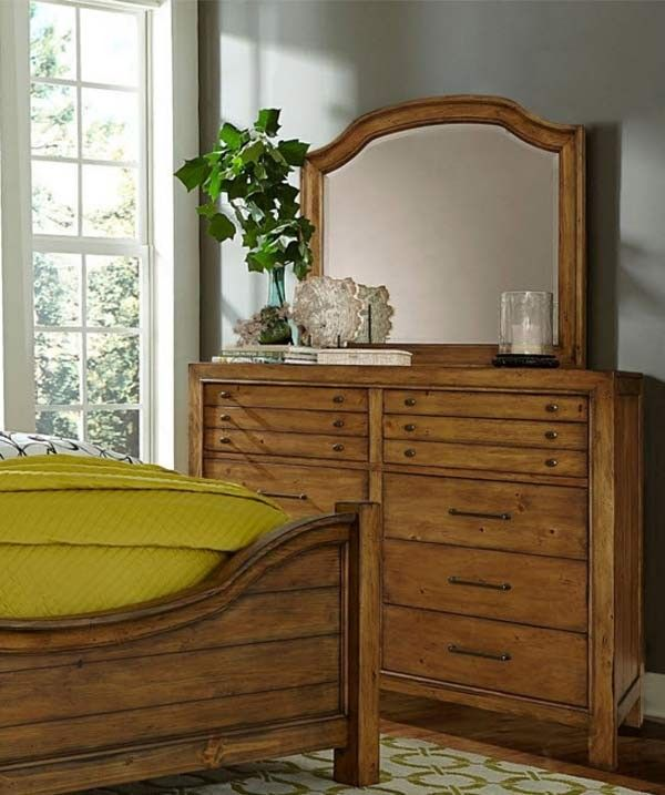 Broyhill Furniture - Bethany Square Brown Door Dresser and Landscape ...