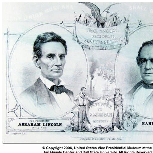 Lincoln-Hamlin campaign poster