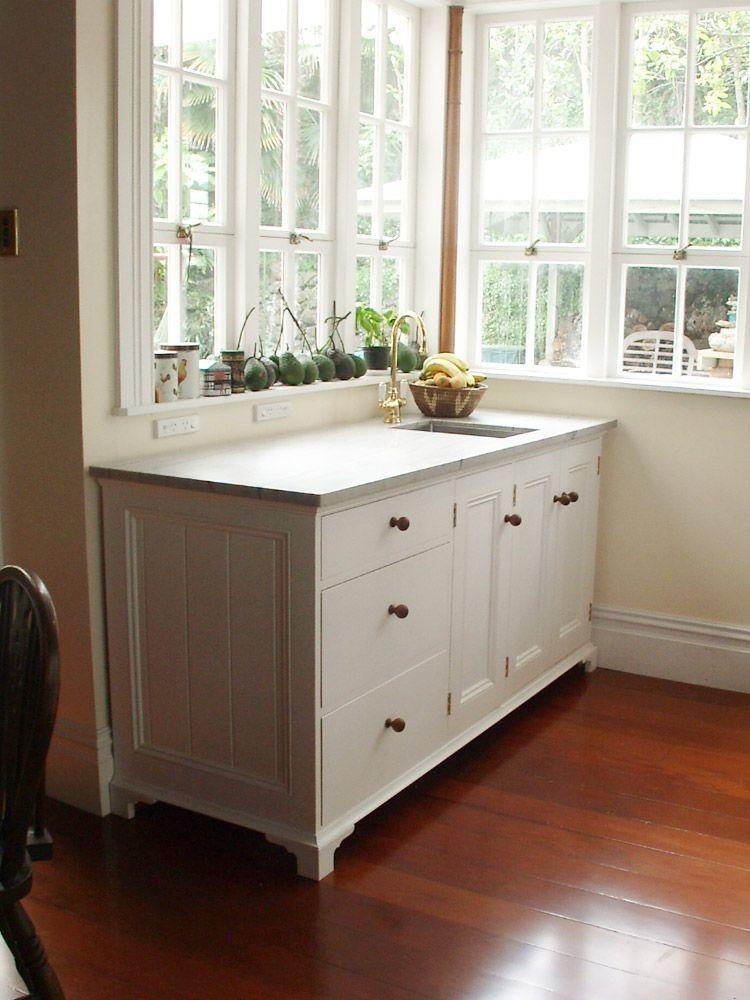 Georgian style kitchen furniture in Devonport, Auckland. It has a ...