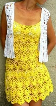 Crochet treasure trove: sleeveless tunics - Chart