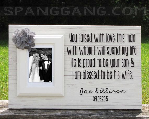Wedding gift for parents of the Groom gift, Mother of the Groom ...