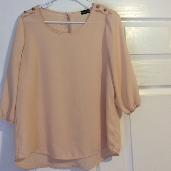 Love Culture Blush Blouse Like new - barely ever worn blush blouse from Love Culture! Size M. No stains and no pulls. Not j. Crew listed for views J. Crew Tops Blouses