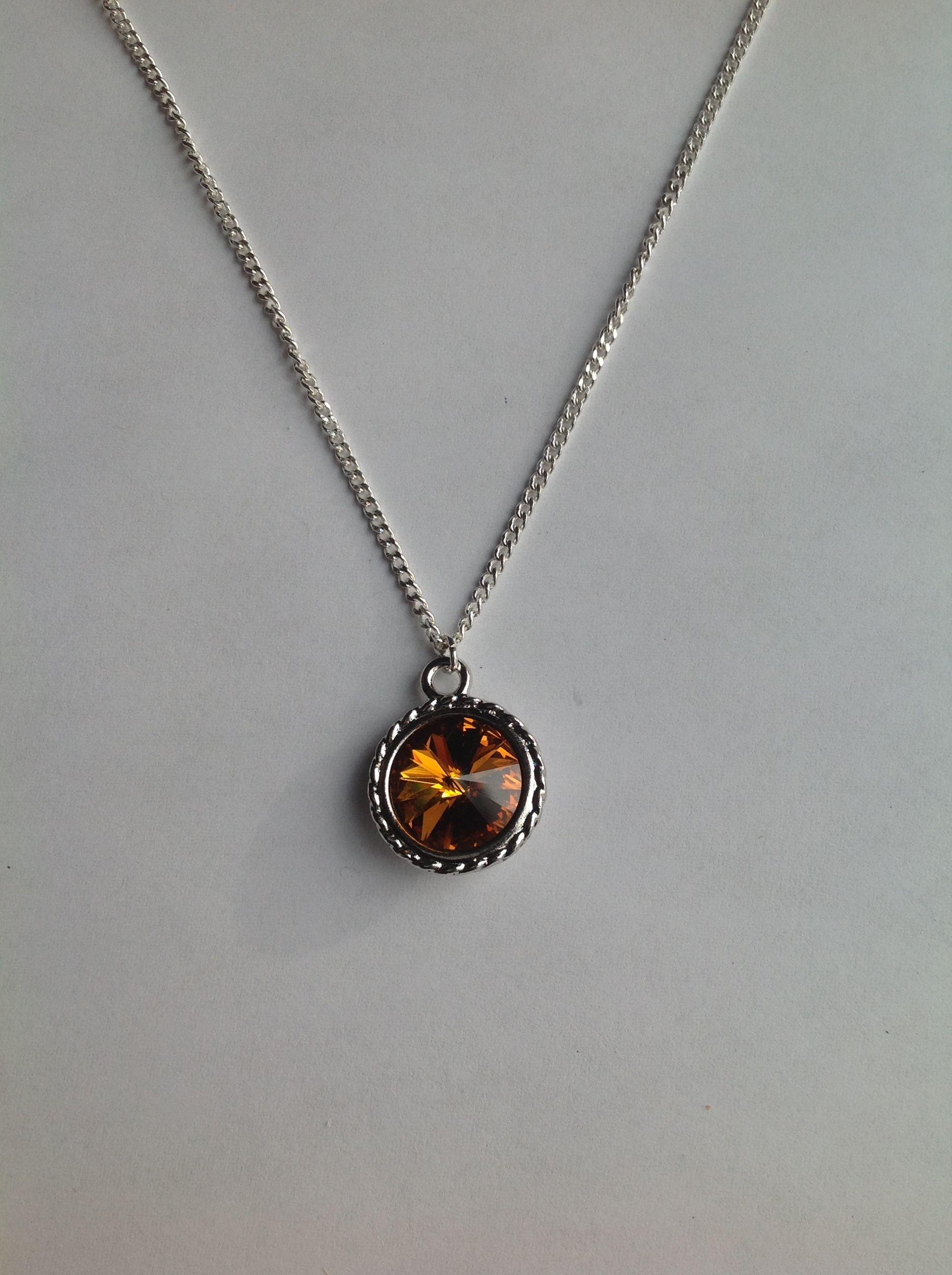 Swarovski Birthstone Pendant Necklace. November