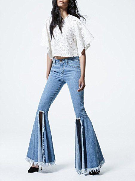 Asilio Flare Jeans schmal mit ausgestelltem und offenem ...