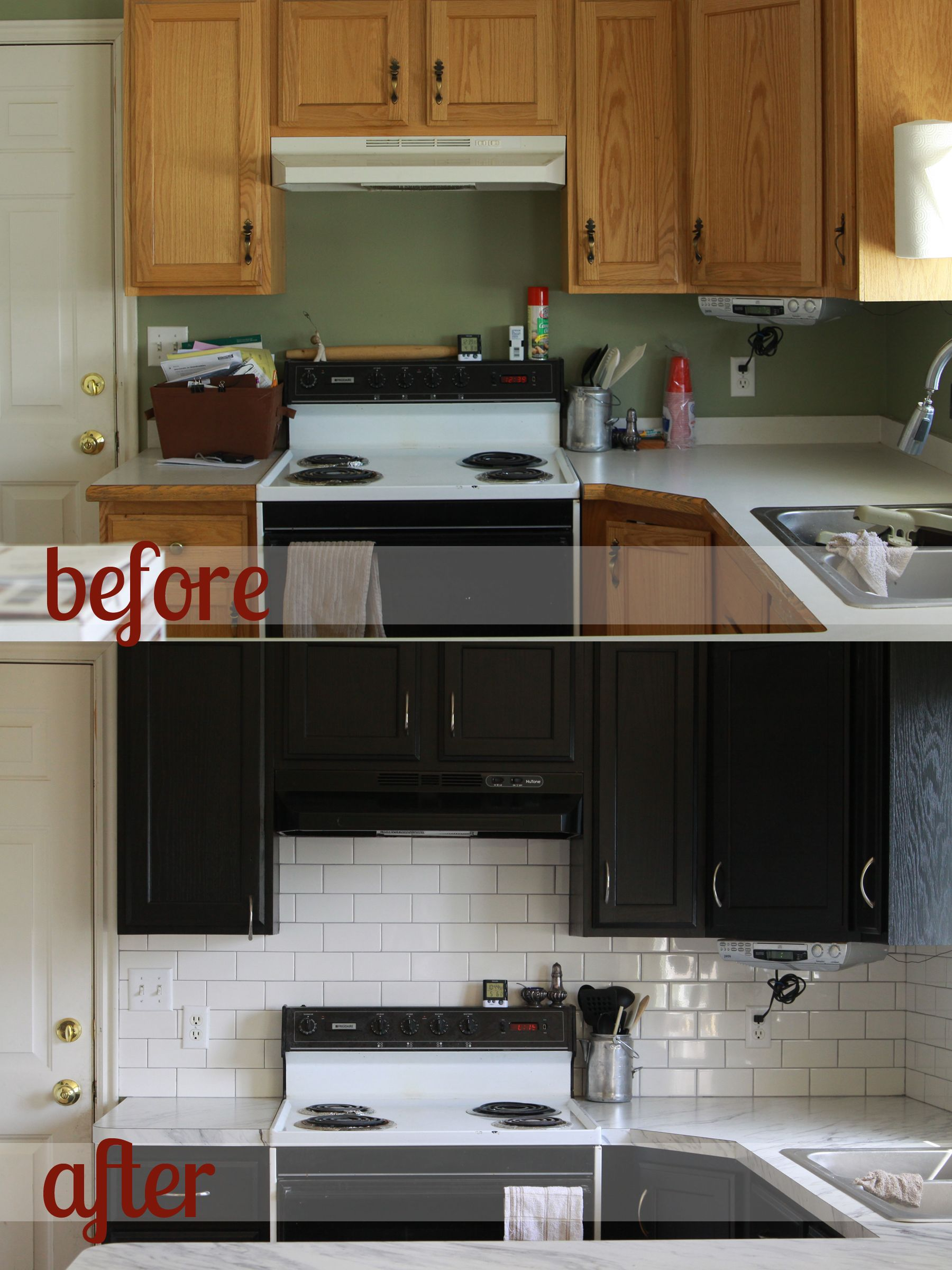 Rustoleum cabinet transformations review before after for Painting kitchen countertops before and after