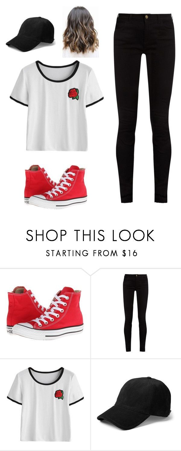 Casual black red rose outfit by brookes on polyvore featuring