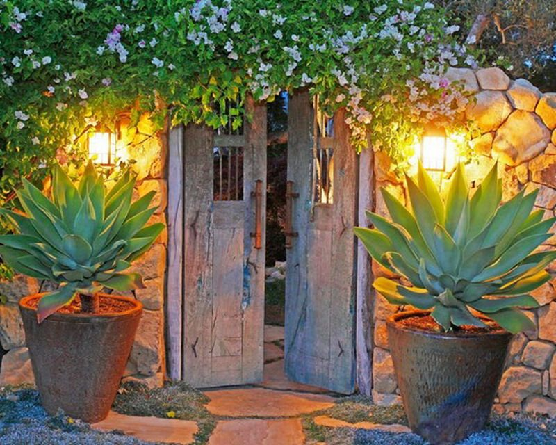Stunning Rustic Mexican House Garden Patio Entry ... on Mexican Patio Ideas id=18632