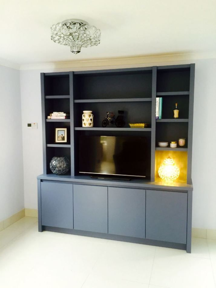 Contemporary freestanding media unit in Wandsworth ...