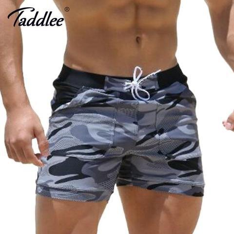 1000b1db615 Taddlee Brand Sexy Men's Swimwear Swimsuits Man Plus Big Size XXL Spandex  Beach Long Board Shorts Boxer High Rise Cut Trunks Men