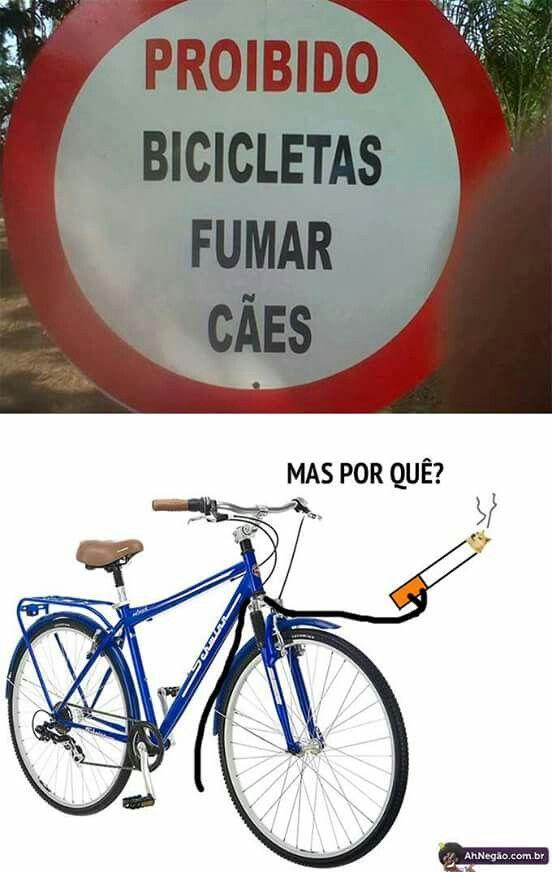 proibido bicicletas fumar cães.