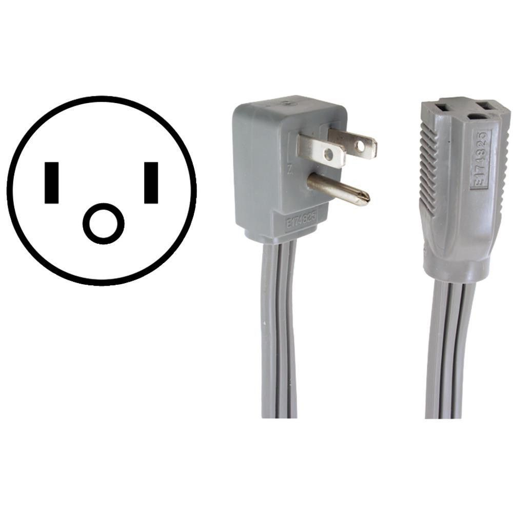 CERTIFIED APPLIANCE 15-0312 Appliance Extension Cord, 15 Amps (12ft)