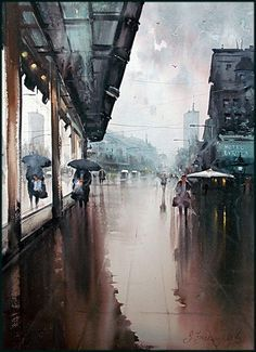Dusan Djukaric Reflection, watercolor, 54x74 cm
