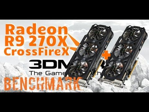 3DMark11 Radeon R9 270X CrossFire Benchmark Stock Clocks