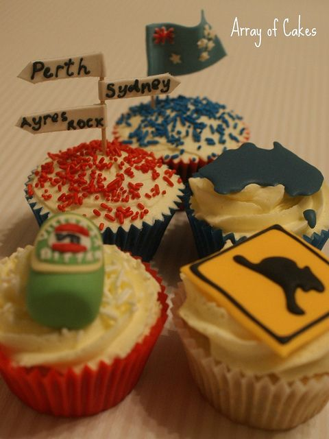 Food Ideas Happy Australiaday To My Husband And All The Australian People Greetz From Belgium Themed CupcakesParty