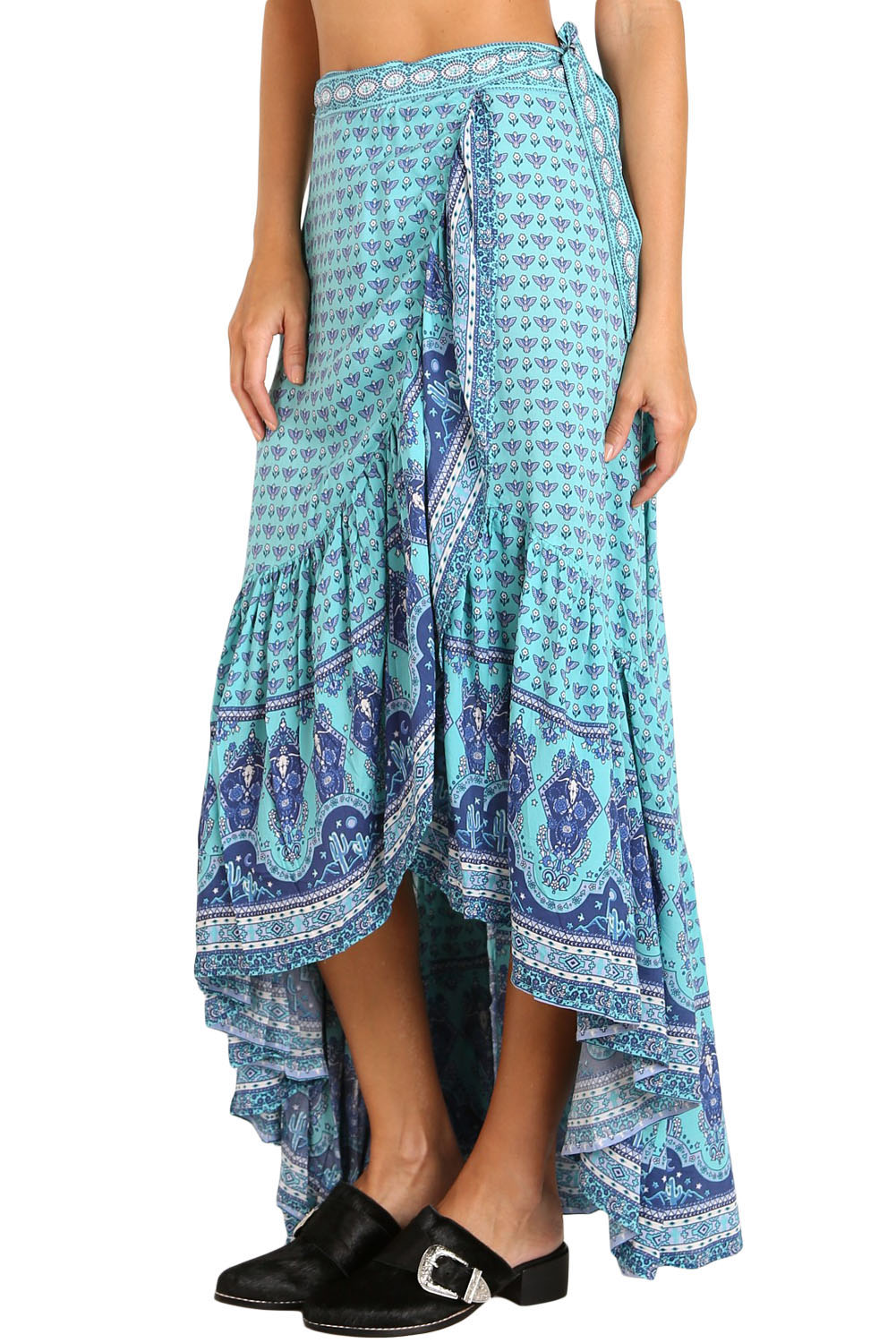 409c098f87 Blue Gypsy Style Print Sarong Beach Dress in 2019 | ♥♥ Style House ...